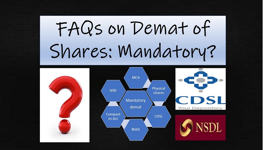 FAQs on Demat of Shares : Is it mandatory to demat shares?