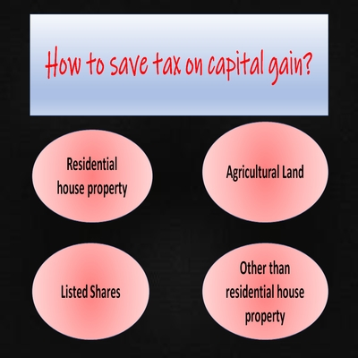 how to save tax on capital gain?