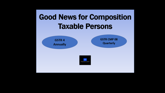 good news for composition taxable persons