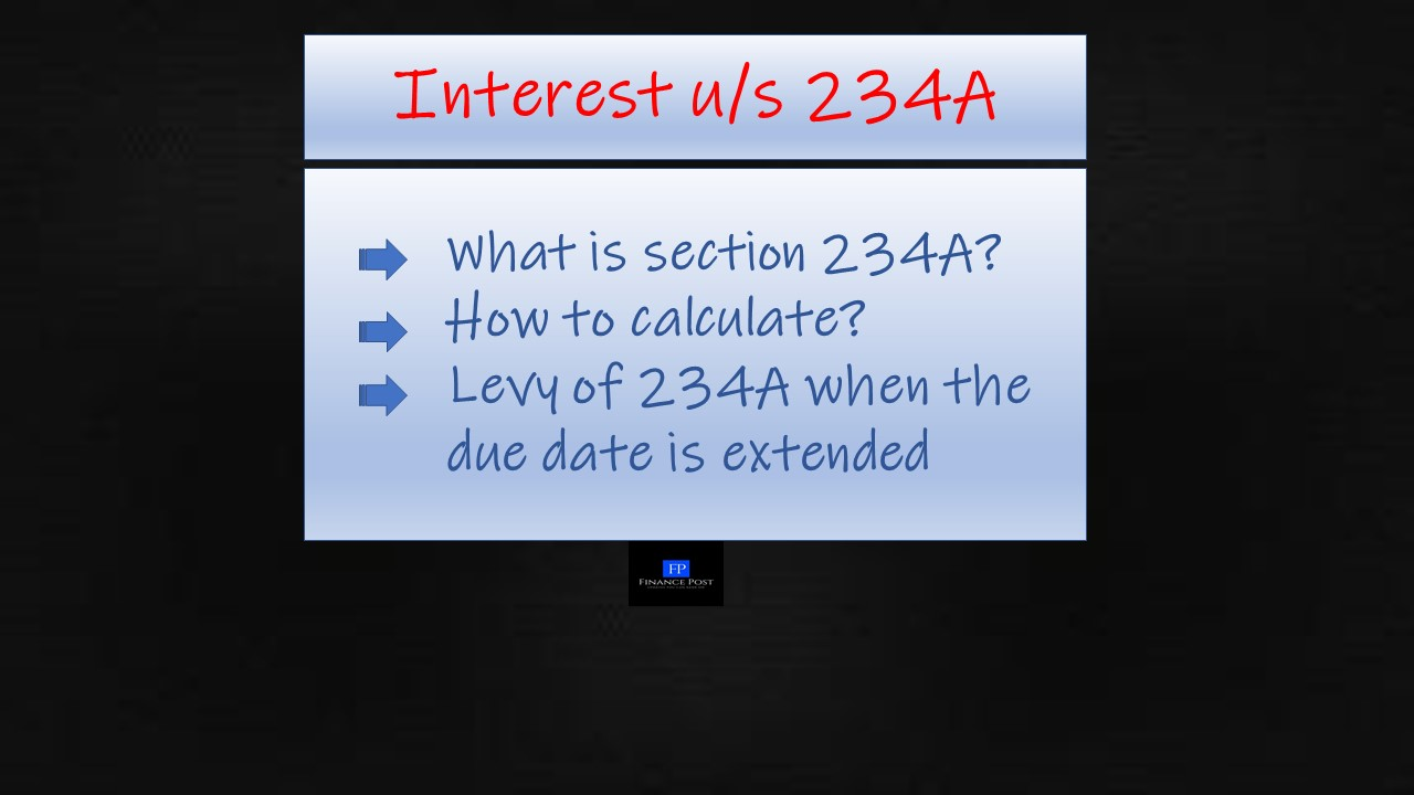 All about interest under section 234A