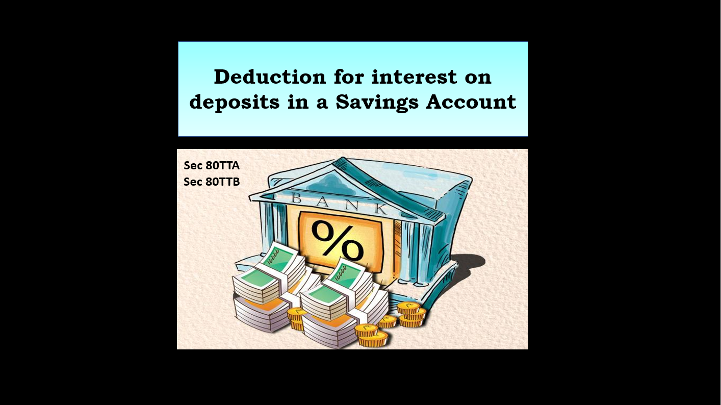 deduction for interest on deposits in savings Account