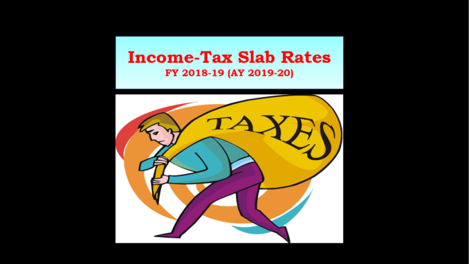 income tax slab rates FY 18-19 (AY 19- 20)