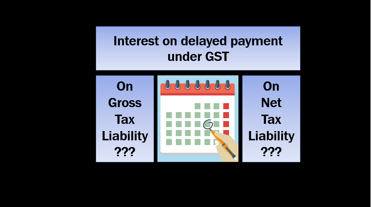 Interest on delayed payment on GROSS or NET under GST ???