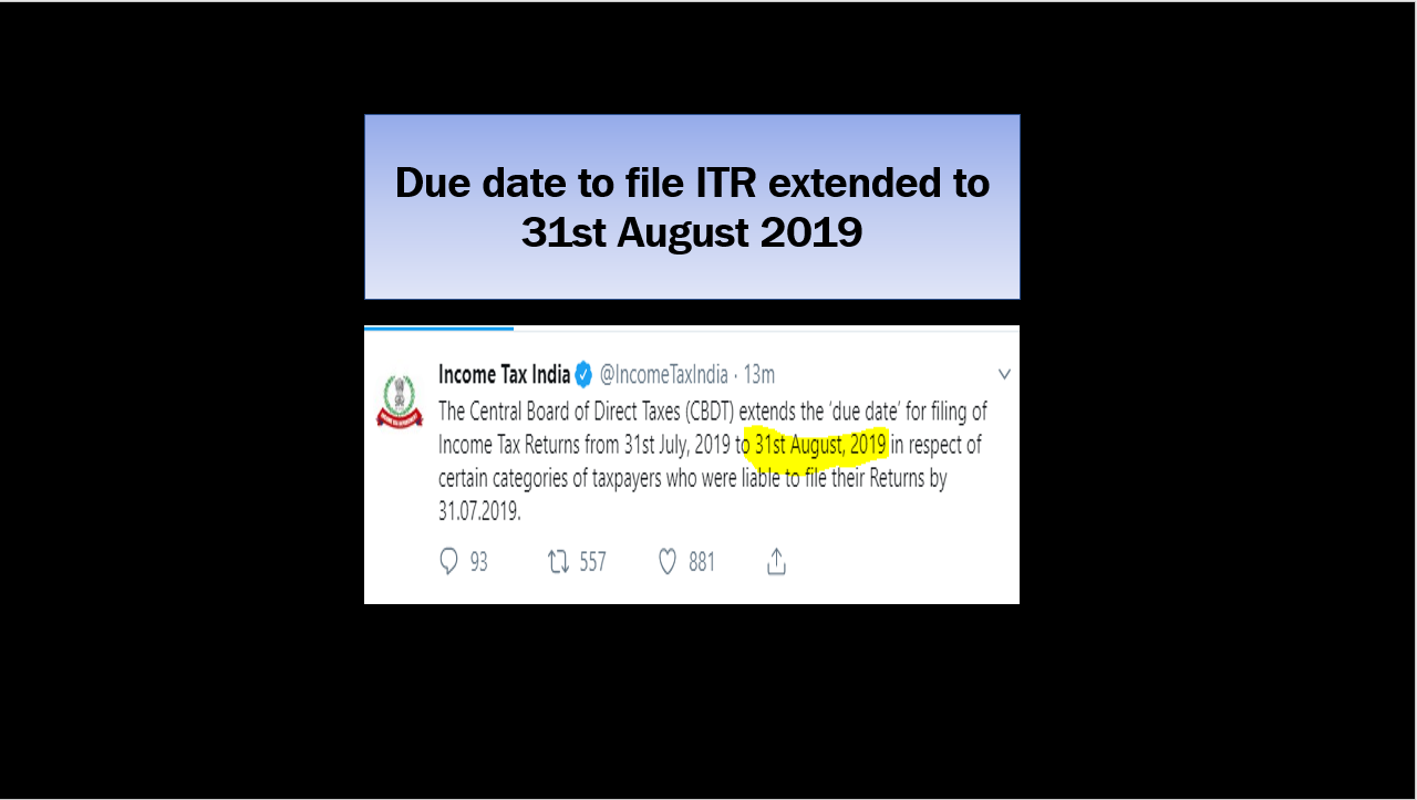 itr due date extended