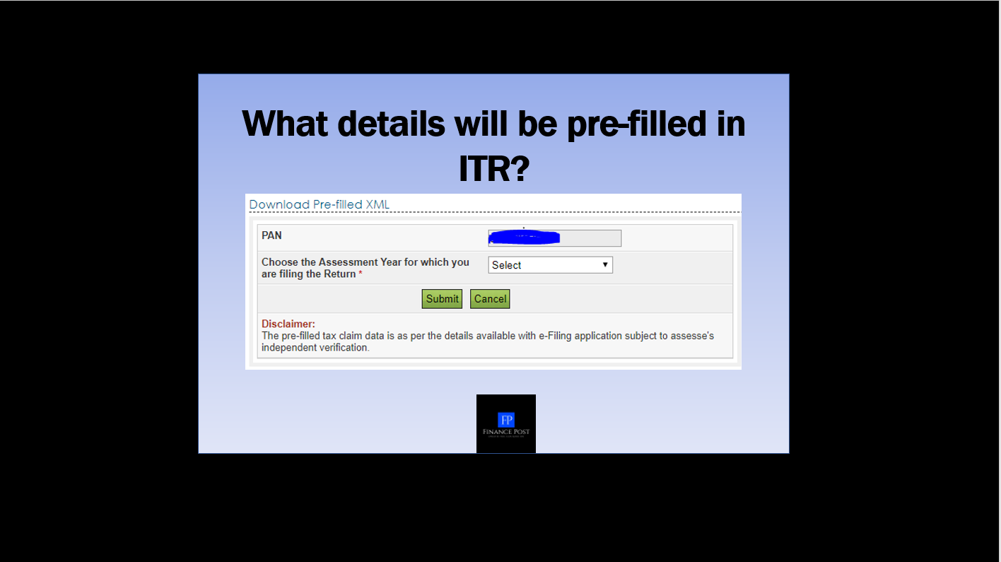 what details will be pre-filled in ITR?