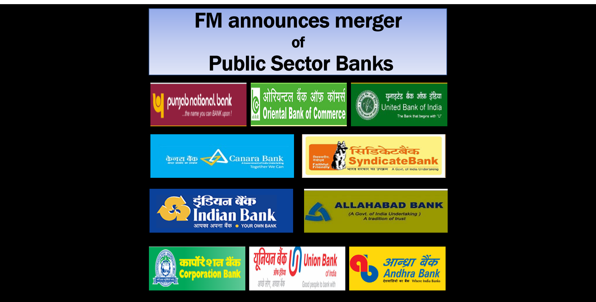 FM announces merger of Public Sector Banks