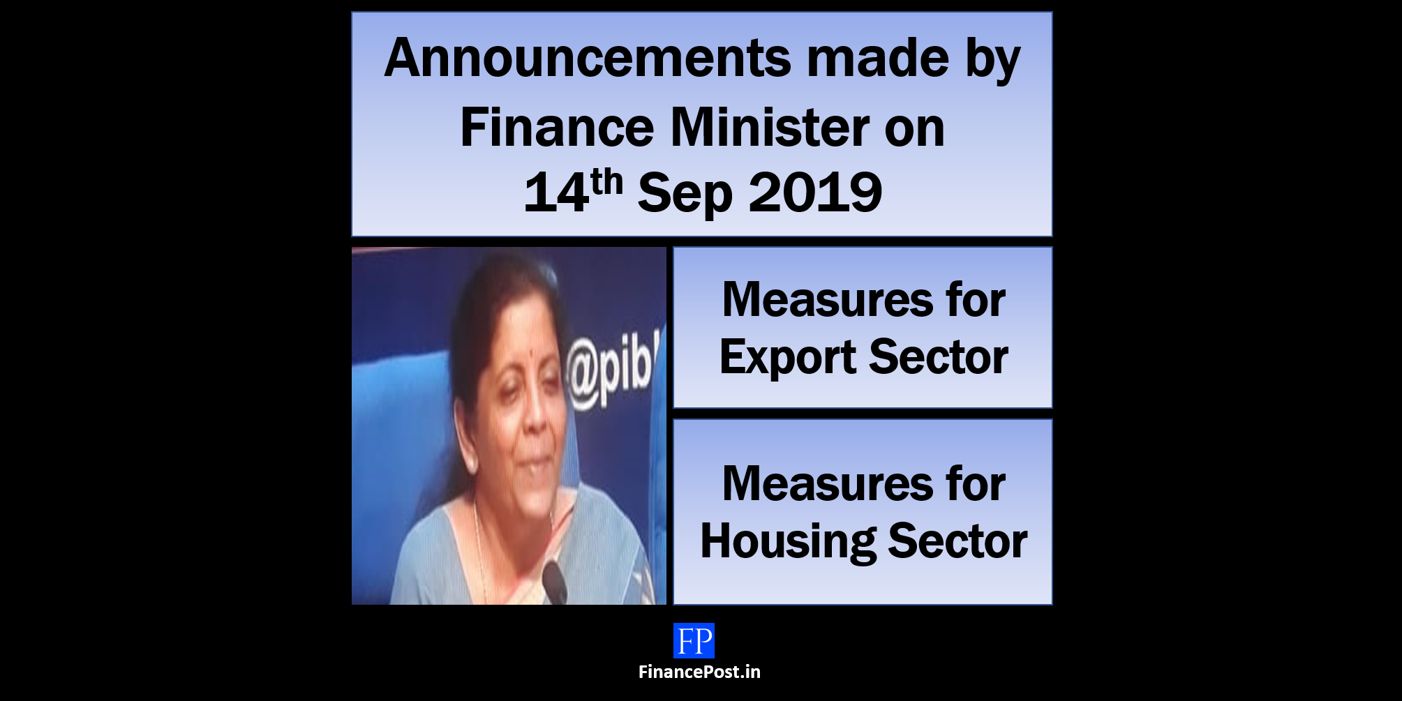 Finance Minister addresses issues of Home buyers and exporters