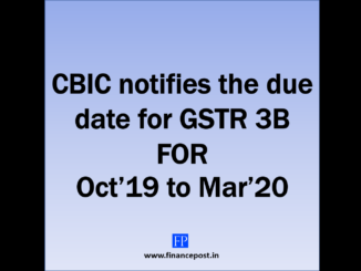 CBIC notifies the due date for GSTR 3B