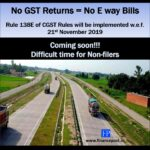 No GST Returns = No e way bills