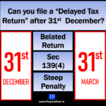 """Can you file a """"Delayed Tax Return"""" after 31st December?"""
