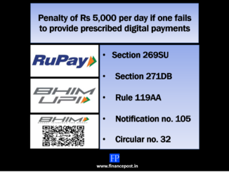 Penalty of Rs 5000 per day for non-compliance with section 269SU by 31st January 2020