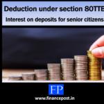 Deduction under section 80TTB