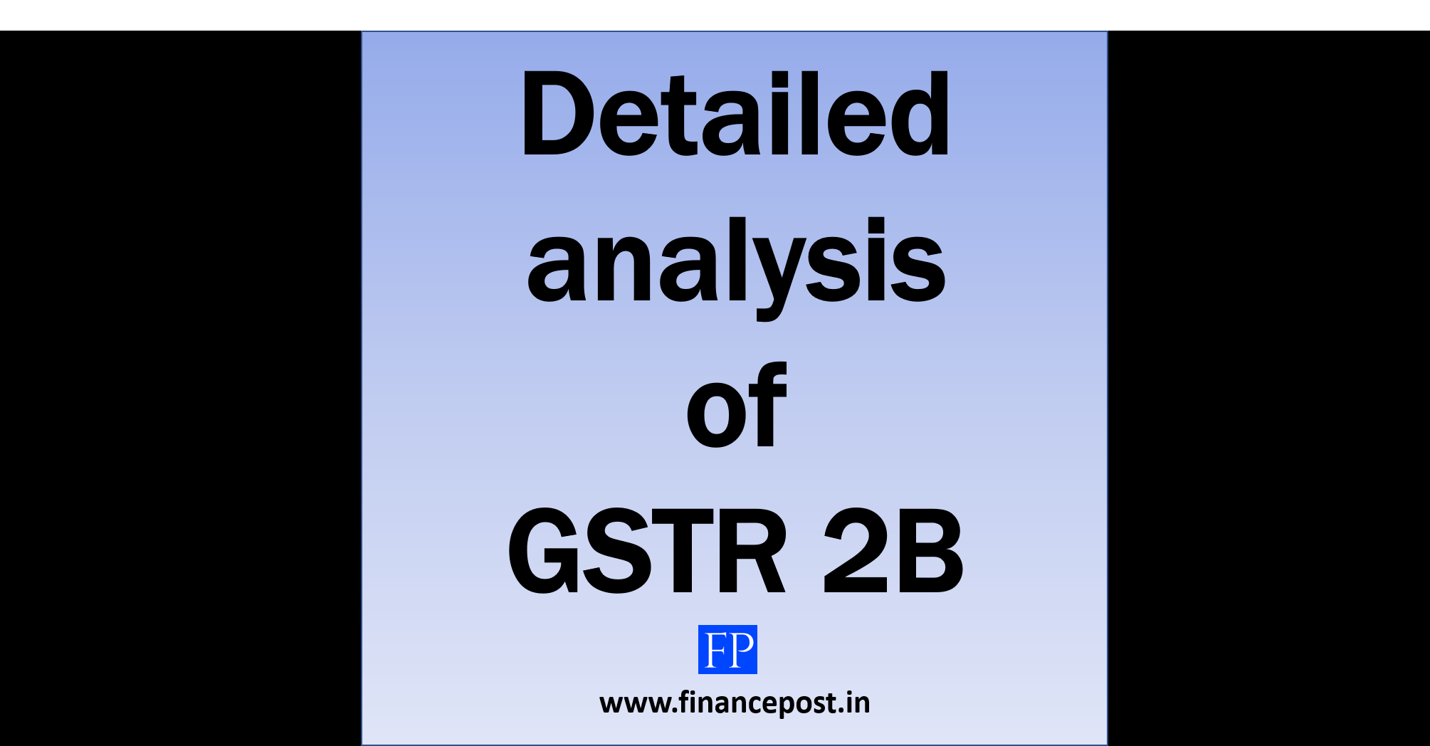 detailed analysis of gstr 2b