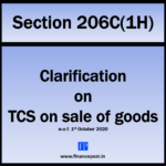 Clarification on tcs on sale of goods