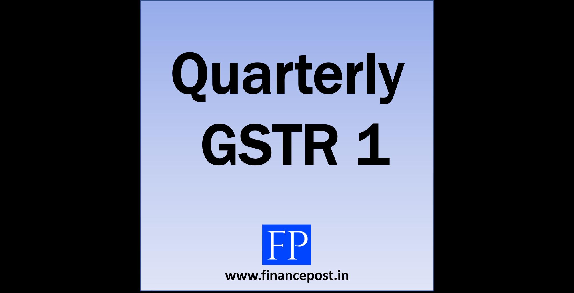 quarterly gstr 1