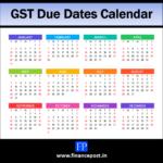 GST Due Dates Calendar