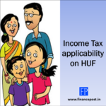 Income Tax applicability on HUF