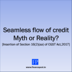 Seamless flow of credit
