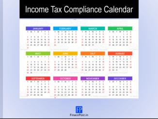 Income Tax Compliance Calendar