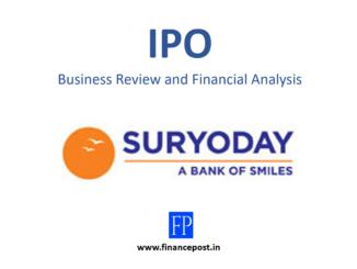 Suryoday IPO