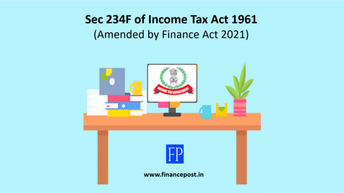 Sec 234F of Income Tax Act 1961