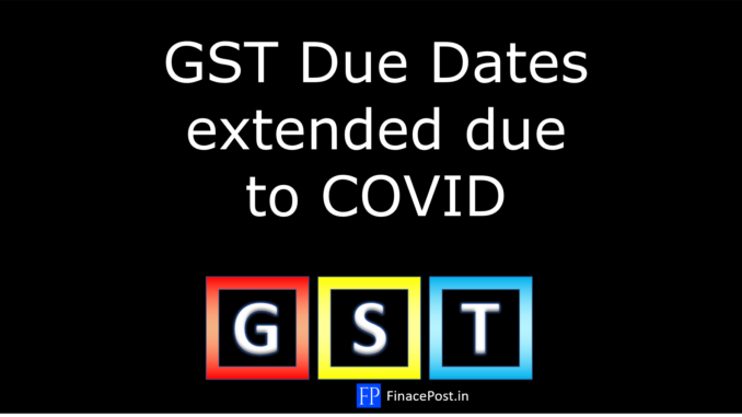 GST Due Dates extended due to COVID